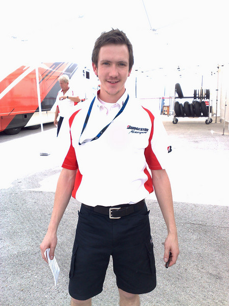 Tom Tremayne from Bridgestone at Jerez