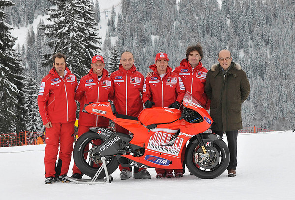 Ducati Desmosedici GP10 MotoGP bike launch with Nicky Hayden and Casey Stoner