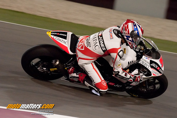 Kenny Noyes at Qatar, during the Moto2 race