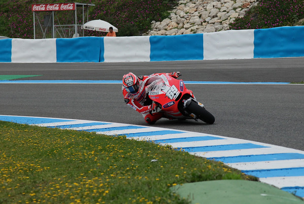 Nicky Hayden on the Ducati GP12 at Jerez