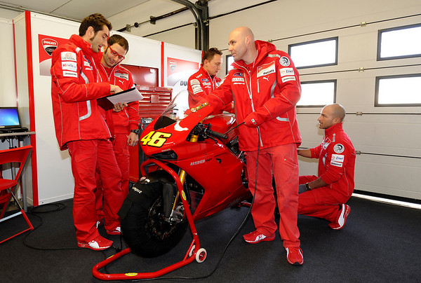 Rossi's Ducati 1198 at Misano