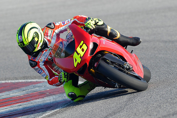Rossi on a Ducati 1198 at Misano