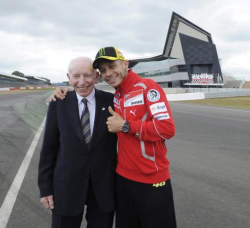 Valentino Rossi and John Surtees at Silverstone