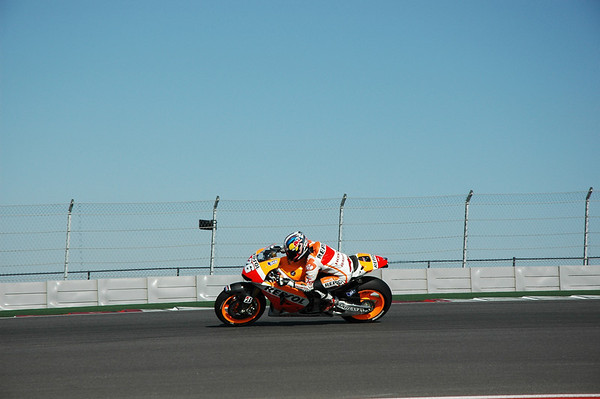 Pedrosa about to enter the section of track he might not dislike so much.