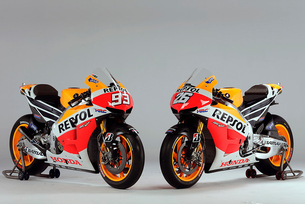 The Repsol Honda RC213V in new colors