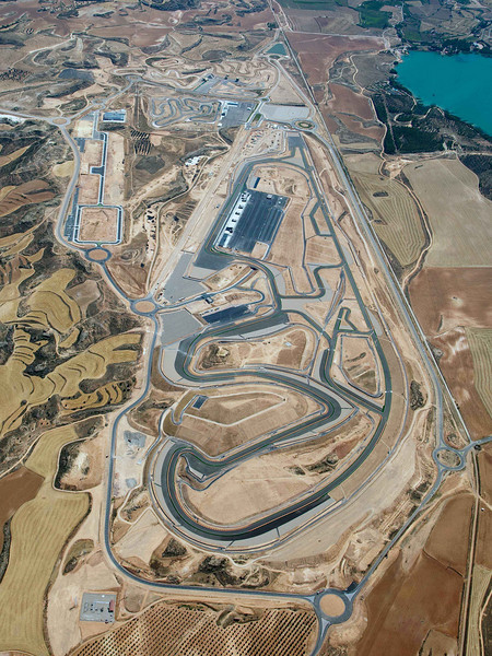 Aerial view of Motorland Aragon