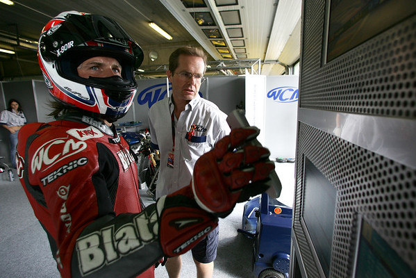 James Ellison and Peter Clifford in the WCM pits