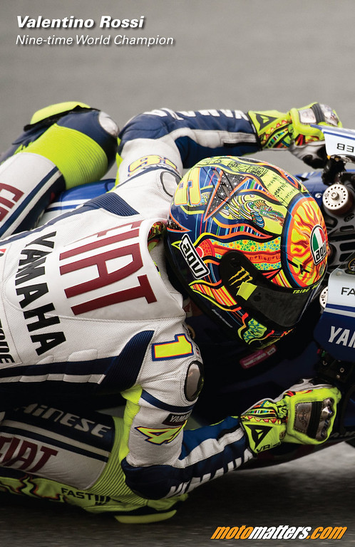 Valentino Rossi in Motomatters.com's 2010 motorcycle racing calendar