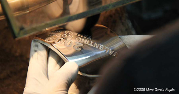 Making the MotoGP trophy - polishing the plaque