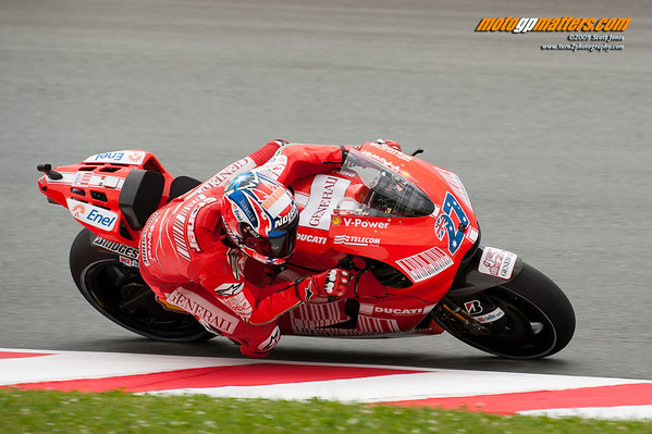 Casey Stoner at the Sachsenring, FP1