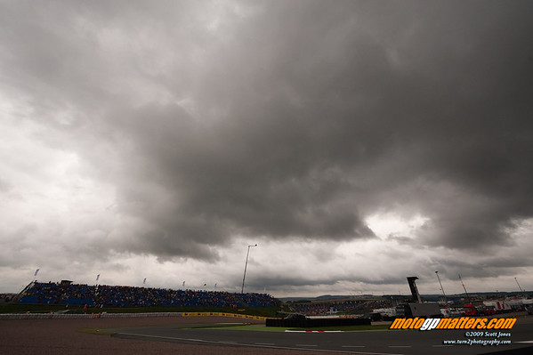 Leaden skies over the Sachsenring