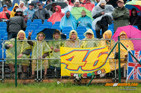 Rossi fans at the Sachsenring
