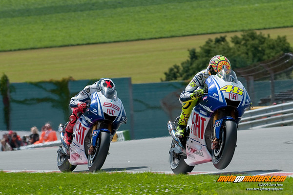 Valentino Rossi and Jorge Lorenzo at the Sachsenring