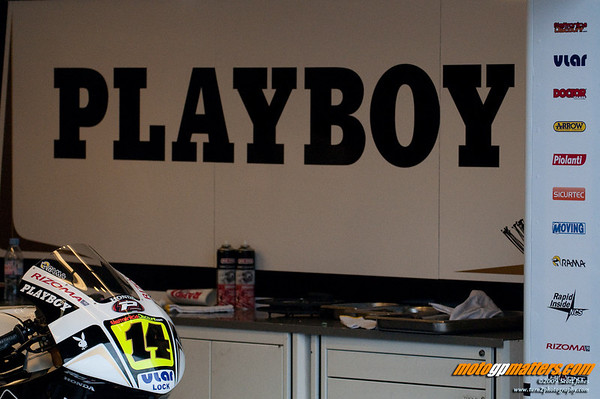 The Playboy LCR Honda garage